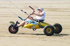 Ralph Hirner riding a kitebuggy Stock Photography