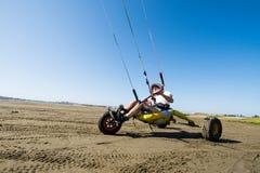 Ralph Hirner riding a kitebuggy Stock Photos