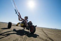 Ralph Hirner riding a kitebuggy Royalty Free Stock Photo