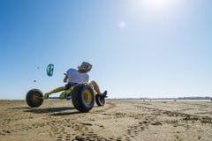 Ralph Hirner riding a kitebuggy Stock Image