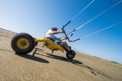 Ralph Hirner riding a kitebuggy Royalty Free Stock Image
