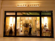 Ralph Lauren Boutique Stock Afbeelding