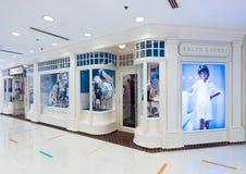 Ralph Lauren-opslag in Oceaanterminal, Hong Kong stock afbeelding