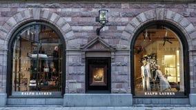 Ralph Lauren-opslagvoorzijde Amerikaans bedrijf die de producten van de luxemanier produceren royalty-vrije stock foto