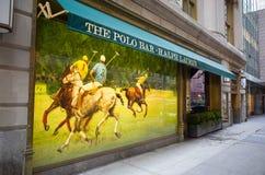 Ralph Lauren Polo-Stangenäußeres - 55. Straße, New York City Lizenzfreie Stockbilder