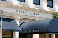 Ralph Lauren Retail Clothing Store stock images