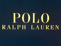 Ralph Lauren shop, Ralph Lauren, a famous brand of fancy clothes. stock image