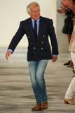 Ralph Lauren walks the runway at Ralph Lauren Spring 2016 during New York Fashion Week Stock Photography