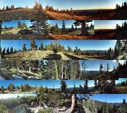 Ralston trail panoramics. Multtiple panoramics of Ralston Trail Stock Image