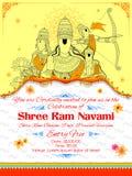 Ram的Navami Ravana阁下Ram、Sita、Laxmana、Hanuman和 库存照片