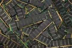RAM ГДР, модули микросхем памяти компьютера Стоковые Фото