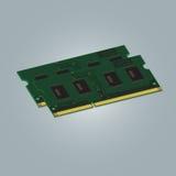 RAM портативного компьютера Стоковое Изображение RF