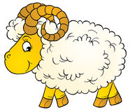 Ram. Isolated clip-art and children's illustration for yours design, postcard, album, cover, scrapbook, etc Stock Photography