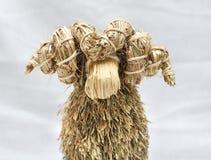 Ram. Funny portrait of straw ram Royalty Free Stock Photo