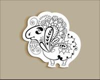 Ram animal, aries do sinal Imagens de Stock Royalty Free