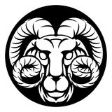 Ram Aries Zodiac Horoscope Sign Photos libres de droits