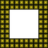 Ram av abstrakta pyramider Arkivfoto