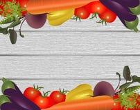 Ram av de olika grönsakerna Royaltyfri Foto