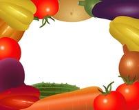 Ram av de olika grönsakerna Arkivfoton