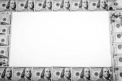 Ram av 100 dollar sedlar Royaltyfria Foton