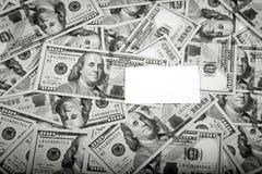 Ram av 100 dollar sedlar Royaltyfria Bilder