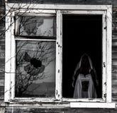 Ram av ett gammalt fönster fotografering för bildbyråer