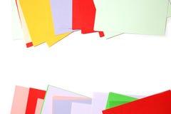 Ram av färgpapper Arkivfoto