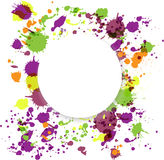 Ram av färgstänk vektor illustrationer