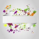 Ram av färgstänk royaltyfri illustrationer