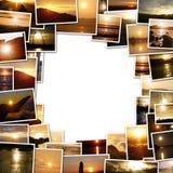 Ram av fotona av solnedgången Arkivfoton