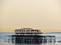 Ram av gamla västra Pier Brighton Arkivfoto