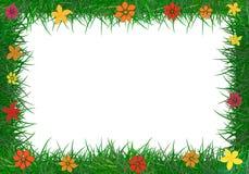Ram av grönt gräs. Fotografering för Bildbyråer