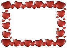 Ram av hjärtor på valentin dag Arkivbild