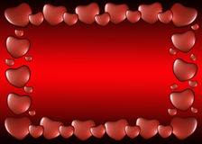 Ram av hjärtor på valentin dag Arkivfoton
