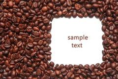 Ram av kaffebönor Arkivbild