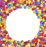 Ram av kulöra godisar för cirkel vektor illustrationer