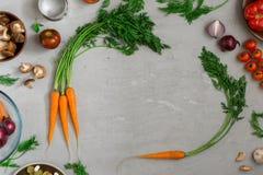 Ram av mat för att laga mat smaklig och användbar mat Fotografering för Bildbyråer