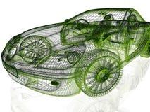 Ram av modellen Car Arkivfoto