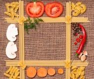 Ram av pasta Royaltyfria Bilder
