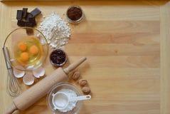 Ram av stekheta ingredienser Royaltyfri Fotografi
