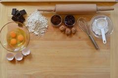Ram av stekheta ingredienser Arkivfoton