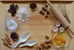 Ram av stekheta ingredienser fotografering för bildbyråer