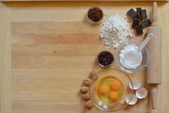Ram av stekheta ingredienser Arkivbilder