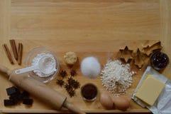 Ram av stekheta ingredienser Royaltyfri Foto