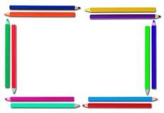 Ram blyertspenna på papper Arkivfoton