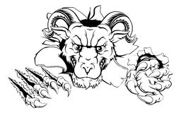 Ram character smashing out Royalty Free Stock Image