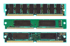 RAM chip on white Stock Images