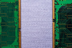 Ram chips on brushed metal Stock Photos