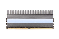 RAM Computer Memory Chip Module med kylflänsen Royaltyfri Foto