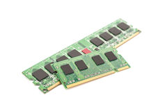 RAM Computer Memory Chip Modules Fotos de Stock